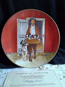 NORMAN-ROCKWELL-034-THE-PUPPY-LOVE-039-034-PLATE-NIB-COA-ROCKWELL-MUSEUM-INDIANA