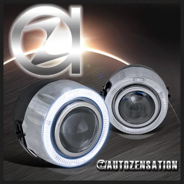 7 Color LED Halo Angel Eye Projector Fog Lights Daytime Lamps Kit+Switch