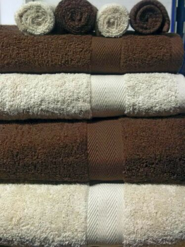 CHOCOLATE BEIGE LUXOR 600GSM 100/% EGYPTIAN COTTON CHOICE OF 3 TOWEL BALE SETS