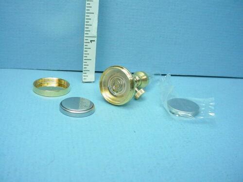 Dollhouse Miniature Battery Operated Light Hurricane Lamp T5SNB Lg Battery