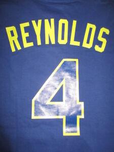 Majestic-HAROLD-REYNOLDS-No-4-SEATTLE-MARINERS-XL-T-Shirt-Jersey