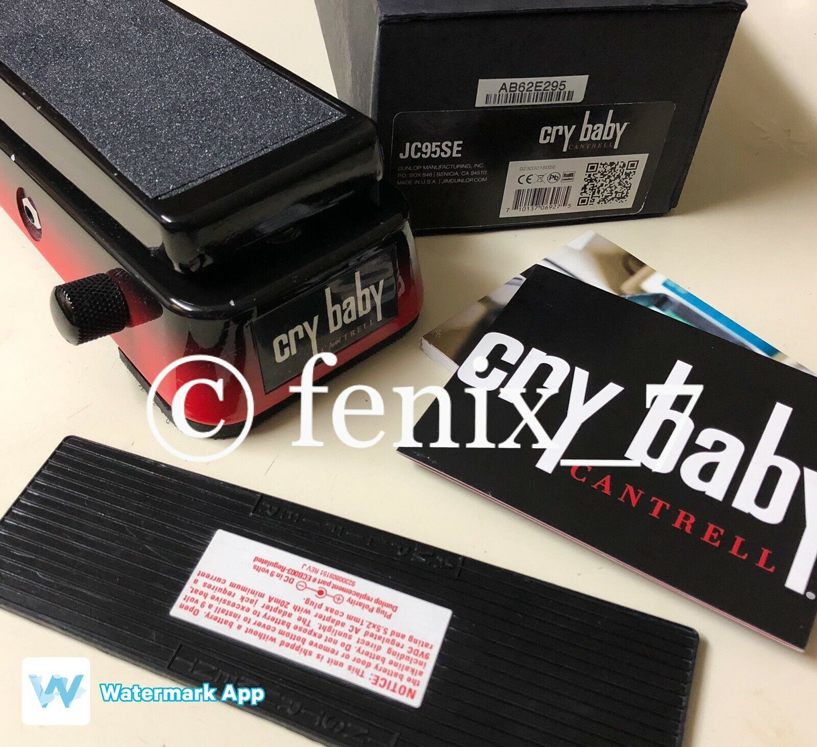 ONLY 250 MADE   Dunlop Crybaby Crybaby Jerry Cantrell JC95SE Signature Wah Stone
