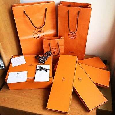 Apprensivo Scatola Busta Hermes Shopping Bag Box Case Fodero Cravatta Tie Foulard Sciarpa I Prodotti Sono Venduti Senza Limitazioni