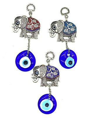 Evil Eye Accessories #1029 LuckyEye Elephant Key Chain