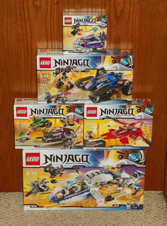 LEGO 70724, 707223, 70722, 70721, 70720 - NINJAGO - 5 SET LOT - NEW / SEALED