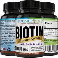 Biotin 10,000 Mcg Maximum Strength, Softgels, Supports Hair, Skin, Nails Support