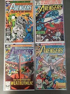 Avengers-191-199-210-212-Bronze-age-Lot-of-4-Captain-America-Iron-Man-VF
