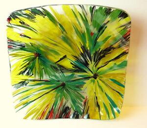 Art-Glass-Bowl-Platter-Flower-Designs