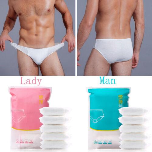 5PCS//SET Unisex Bathing Briefs Disposable Travel Underwear Hotel Sweat Sauna