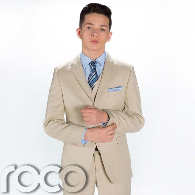 Boys Beige Suit Wedding Suits Page Boy Suits Prom Suits 6 - 9 Months ...