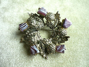 England Glass. A rare old brooch