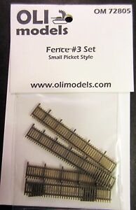 1-72-FENCE-3-Set-034-Small-Picket-Style-034-for-Vignette-Diorama-OLI-Models-72805