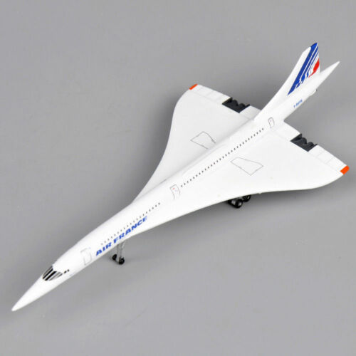 1//400 Concorde Plane Air France 1976-2003 Diecast Aircraft Airlines Toys Model