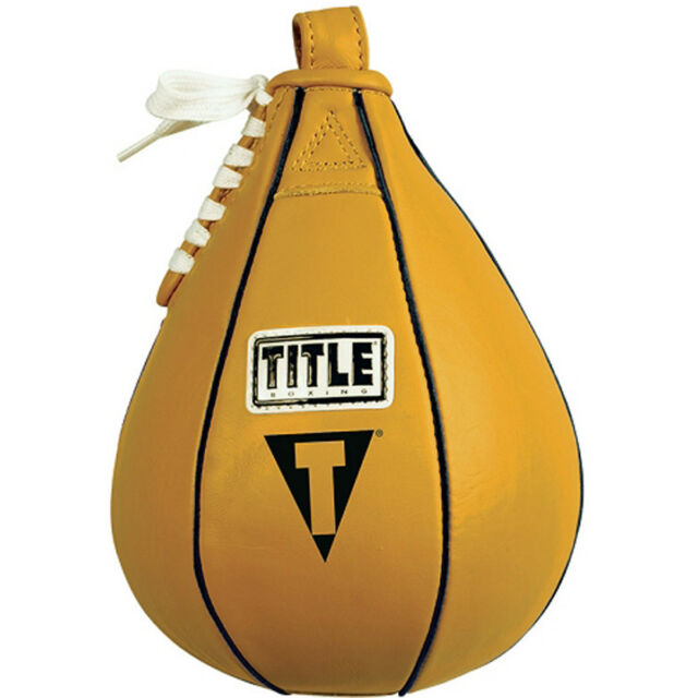 """6/"""" x 9/"""" Small Title Boxing Leather Speed Bag"""