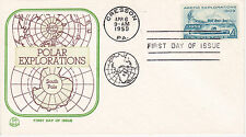 POSTAL HISTORY 1959 FIRST DAY COVER POLAR EXPLORATIONS ISSUE TRI COLOR CACHET