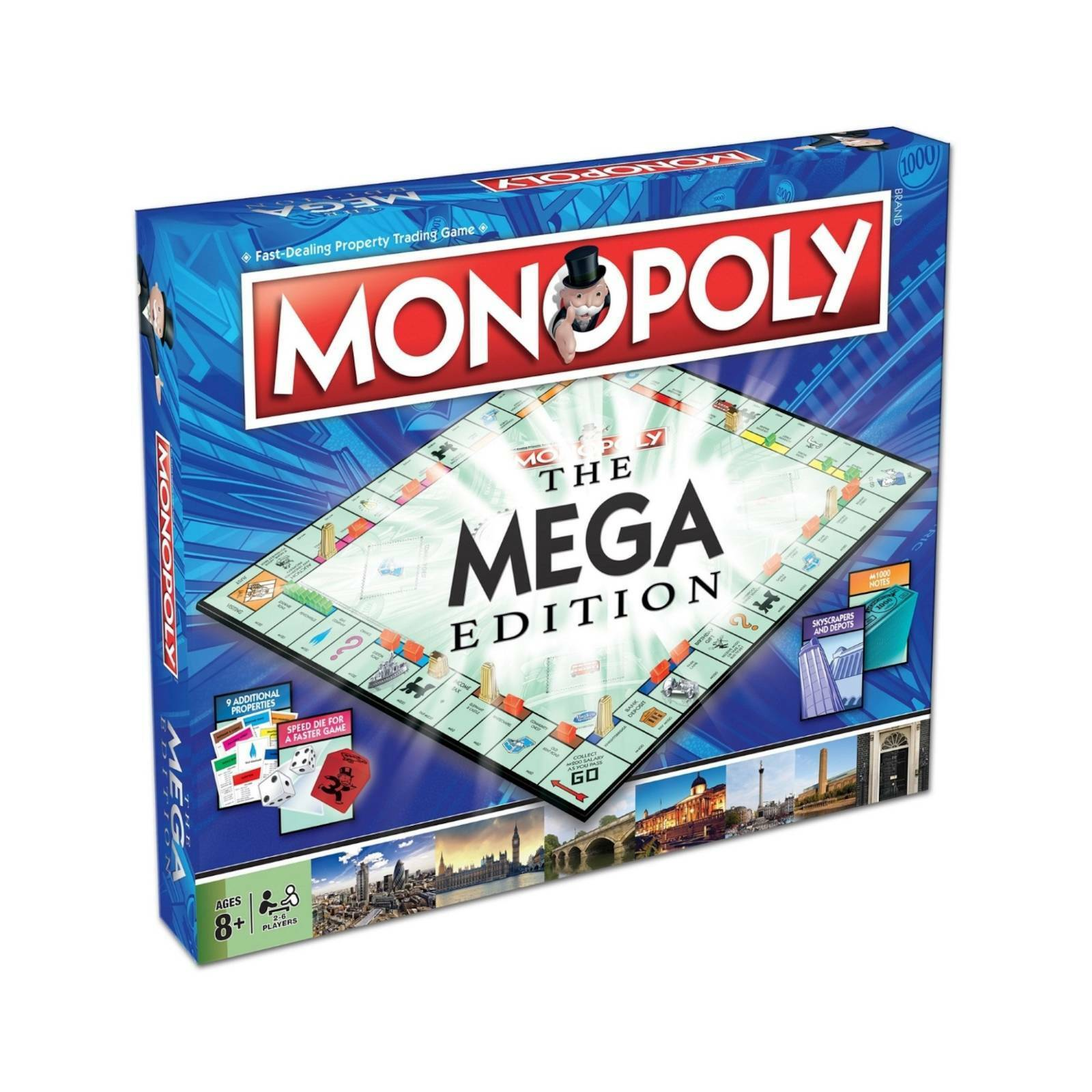 Monopoly MEGA Edition 6 Player Bigger And Better Edition Of The Hit Board Game b