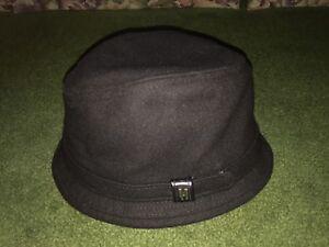 Hats In The Belfry 100 Wool Black Hat Size L Made In Usa Ebay