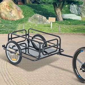 Folding-Bike-Trailer-Cargo-B-icycle-Storage-Carrier-with-Hitch