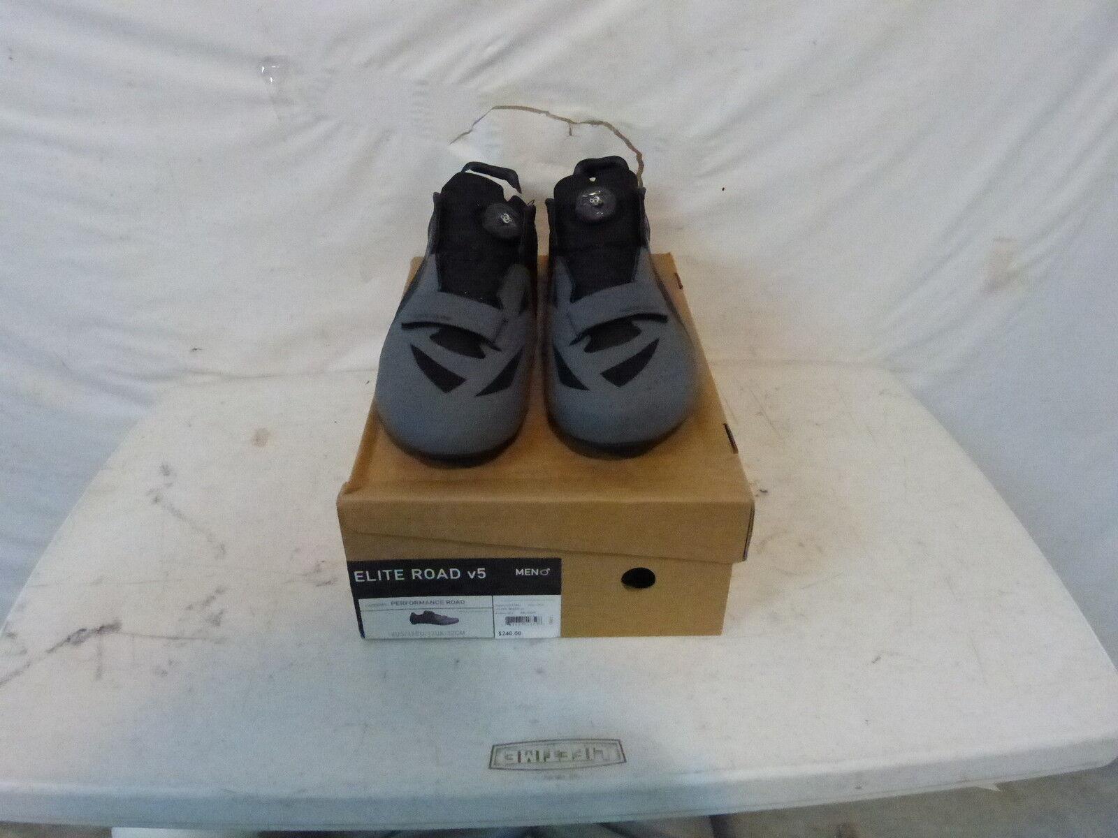 Pearl Izumi Elite V5 zapato de ciclismo de carretera-de hombre nos 49.0 14 Negro gris al por menor