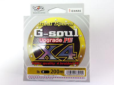 G-SOUL X4 Upgrade PE 200m 5lb #0.25 GREEN YGK