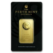 1 oz Gold Bar Perth Mint In Assay .9999 Fine - SKU #84706