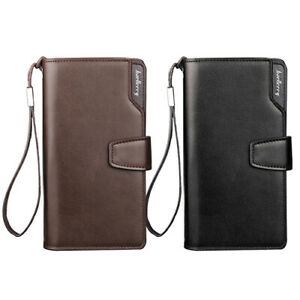 AU-Mens-Faux-Leather-Long-Clutch-Wallet-Purse-Business-Bags-Handbags-Briefcase