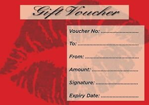 Blank Voucher   Blank Beauty Salon Gift Voucher X10 Envelopes Promo 3 99 Ebay