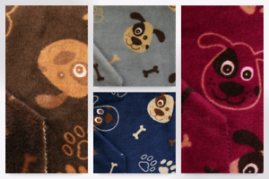 Dog /& Bone Reversible Plush Cuddle Supersoft Fleece Fabric EM-821-DogBon...