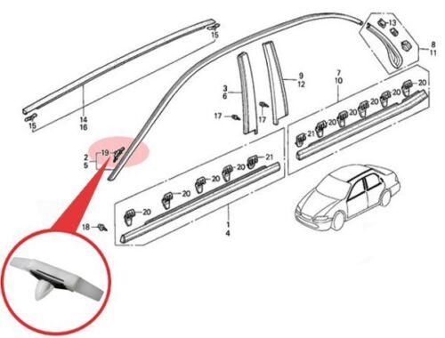 HONDA ACCORD V VI 5 6 Dachleisten Befestigung Clip Klip Klammer Dachleistenclip