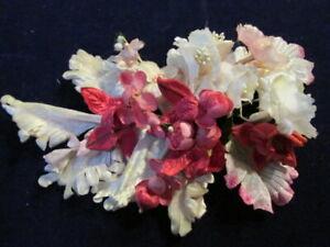 """Bien Vintage Chapellerie Fleur Collection 3 / """" 4-2 Rose Blanc Japon Légèrement"""