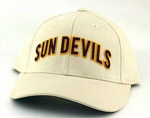 7a4f16a7dd212 Arizona State Sun Devils New Adidas Arch Tan Maroon Era Flex Fitted ...