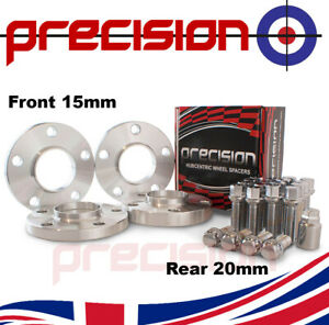 Staggered-Spacers-15mm-20mm-with-Bolts-Nuts-and-Locks-for-OEM-Audi-A4-Alloys