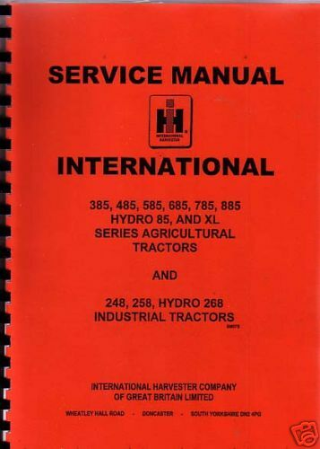 International 385//485//585//685//785//885 Tractor Manual