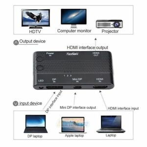 HDMI-DP-Mini-DP-to-HDMI-VGA-Cable-Adapter-Switch-3-in-1-Out-Computer-HD-4K-2K
