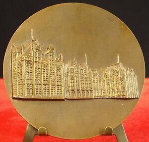 Medaglia-Sughero-Provincia-Stemma-e-Monumento-Meravigliosa-Belgio-Fisch-Medal