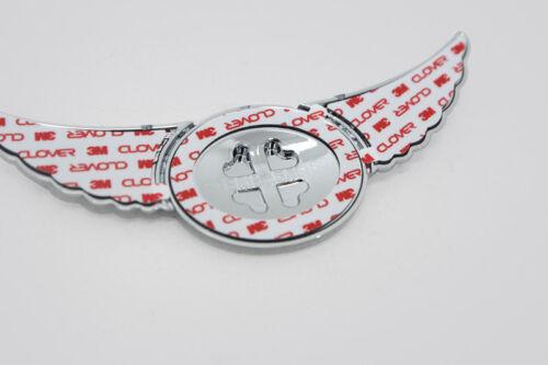 Chrome accessoires tuning chrome emblème wings ailes Logo porte-bonheur trèfle