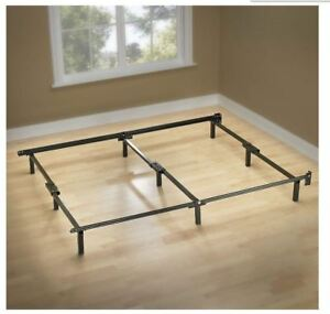 Best King Size Metal Bed Frame 9 Leg Support For Box Spring Mattress
