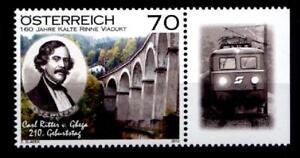 """Viadukt """"Kalte Rinne"""" der Semmeringbahn, Karl Ritte.1W. Rand(8).Österreich 2012"""