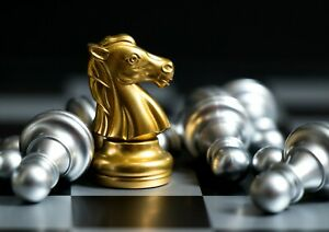 A1-Chess-Golden-Knight-Poster-Print-60-x-90cm-180gsm-Wall-Art-Decor-16163