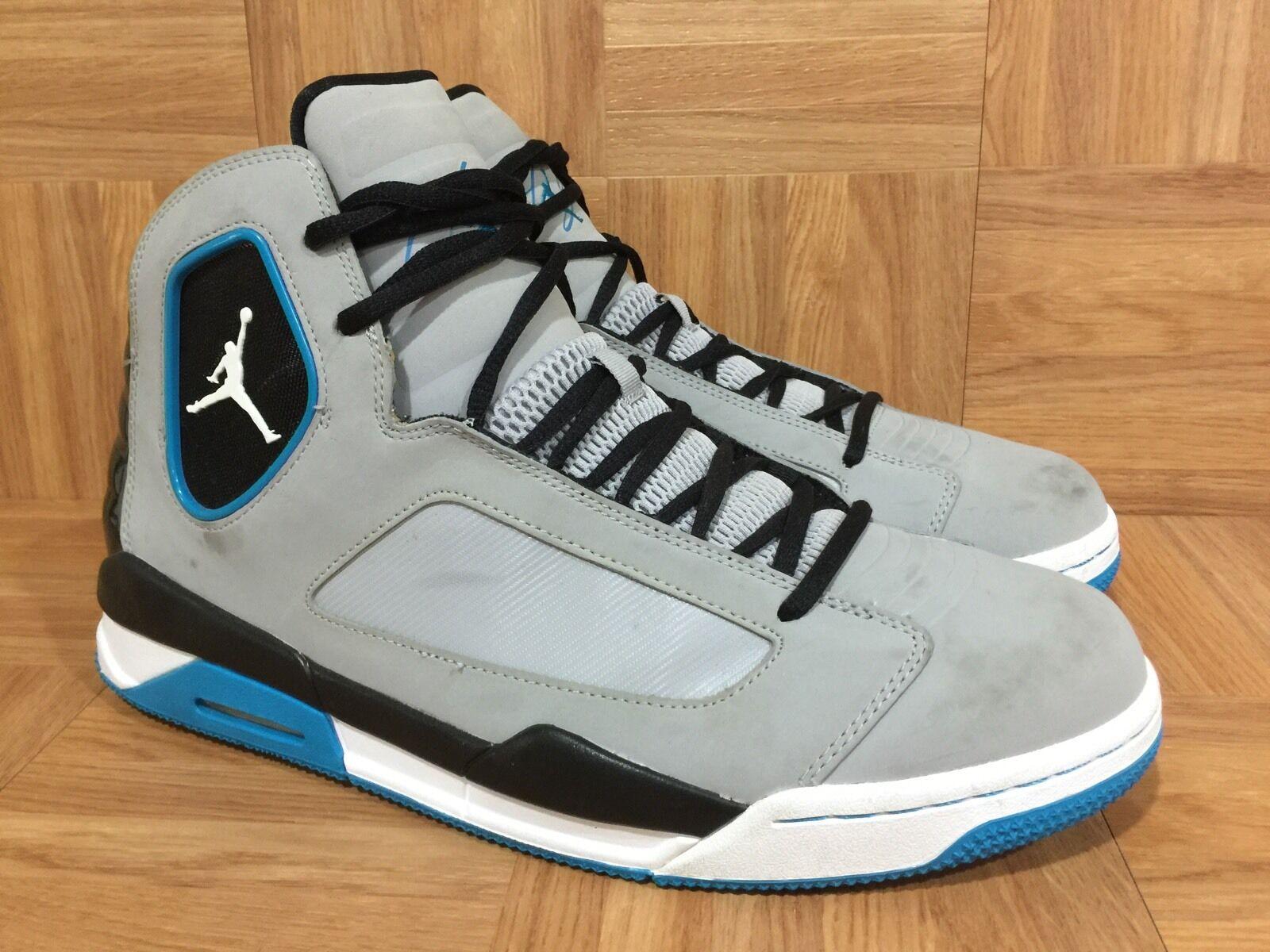 RARE  Nike Air Jordan Luminary Cool Gray Neo Turquoise White Sz 13 551820-009
