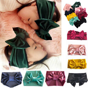Cute-Baby-Girls-Kids-Soft-Velvet-Bow-Knot-Hairband-Headband-Turban-Head-Wrap