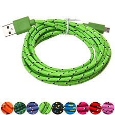 3M/10FT Hemp Rope Micro USB Charger Datacable Ladekabel Für Cell Phone Universal