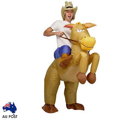 COWBOY Fancy Dress Fan Inflatable Costume Suit  AU POST AU SELLER