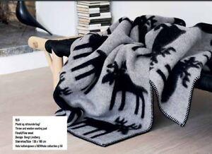 a1193a0d NEW! Roros Tweed 100% Norwegian Fine Wool Blanket Throw ELG 'ELK ...