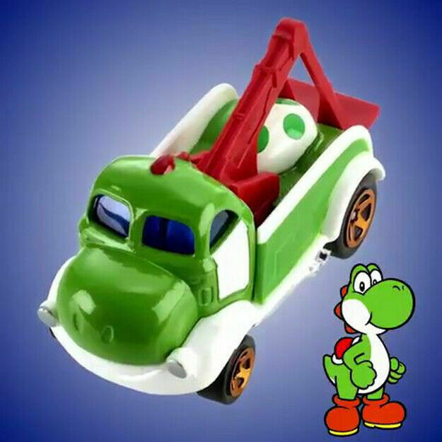 2019 Hot Wheels Super Mario Character Cars 3 Yoshi For Sale