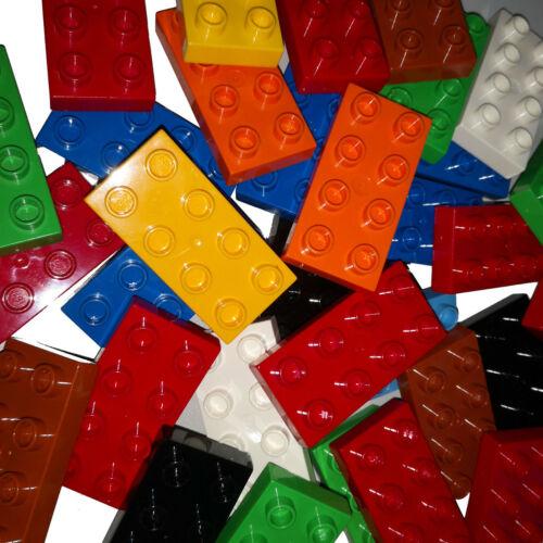 LEGO DUPLO ab 20 Stück 8er Platten gemischte Platten 2X4 8 Noppen Platte gewasch
