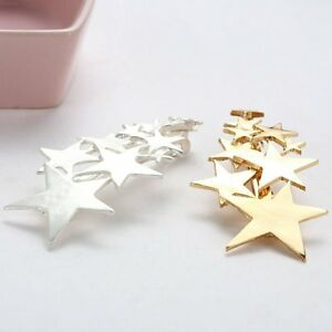 Fashion-Women-Gold-Silver-Star-Hair-Clip-Barrette-Hairpin-Bobby-Pin-Jewelry-NEW
