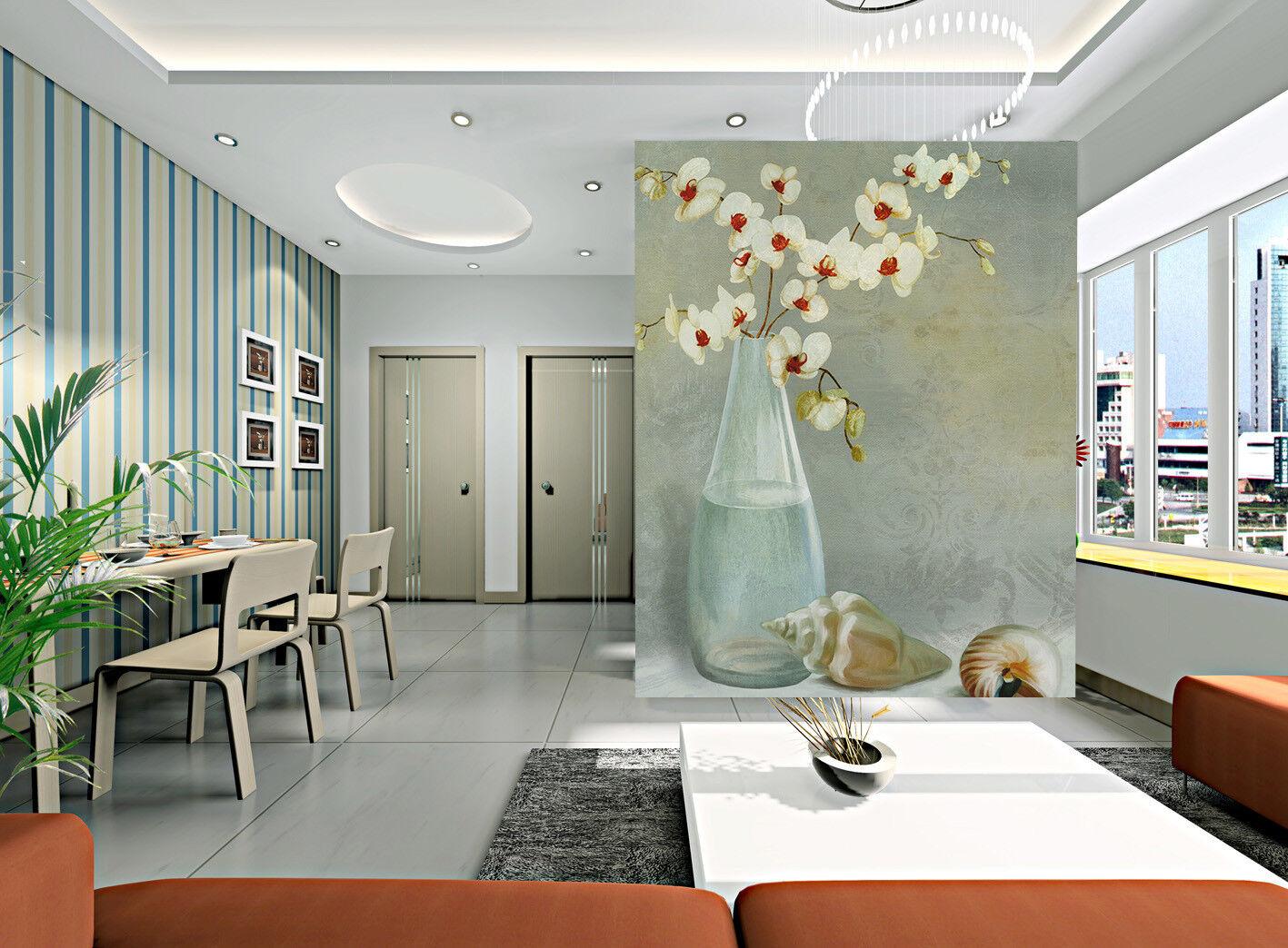 3d glass bottles blumen shell 8 wandpaper Mural wandpaper wandpaper Picture Family De
