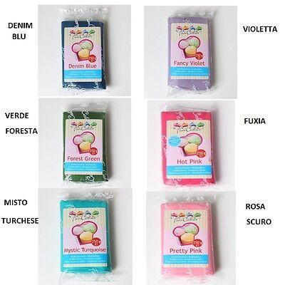 pasta di zucchero blu funcakes 250 gr modellaggio cake senza glutine FC97920