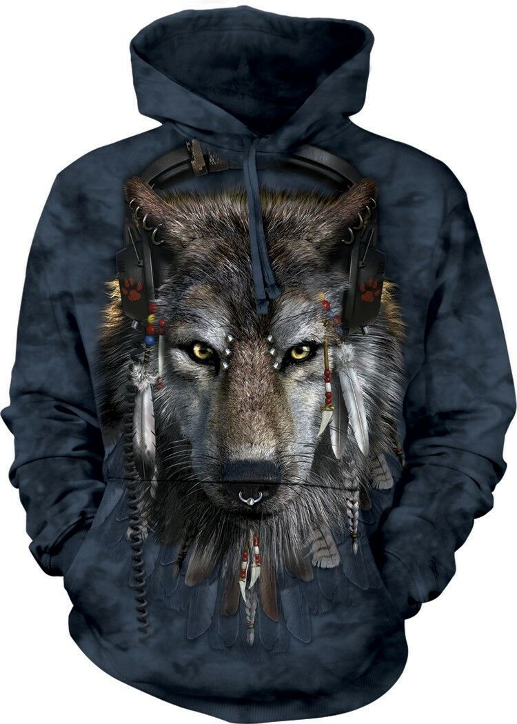 DJ Fen Adult Wolf Hoodie the Mountain